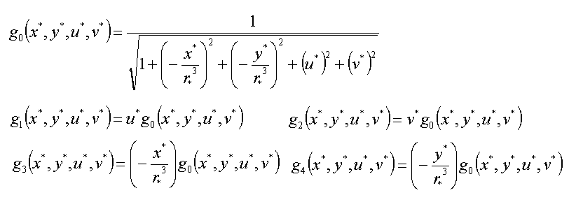 「視線速度計算」で用いた軌道計算に関する式
